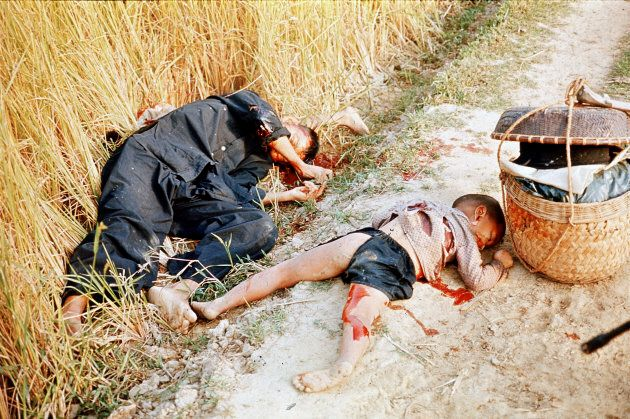 Corpses of Vietnamese civilians killed by American soldiers during Mylai Massacre. (Photo by Ronald S....