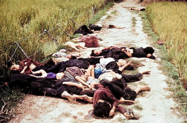 Civilians killed by US Army during pursuit of Vietcong militia, as per order of Lieut. William Calley...