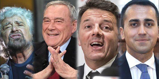 Reddito politici, quando guadagnano i leader: Grillo, Renzi,