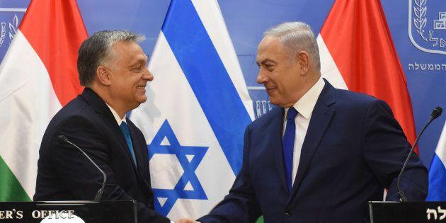 Netanyahu festeggia l'etnocrazia d'Israele con Orban, smacchiato di