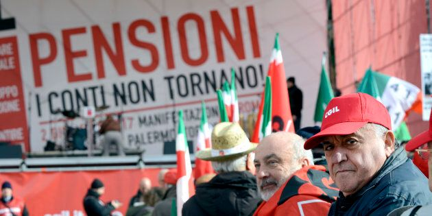 ROME, ITALY - DECEMBER 02: Demonstration of CGIL union for pensions and work against government policies,...