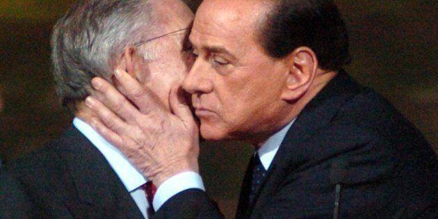 Silvio Berlusconi e Marcello Dell'Utri in un'immagine dell'11 novembre 2007. ANSA/ LUCA