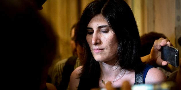 TURIN, ITALY - 2018/06/30: Mayor of Turin Chiara Appendino speaks with journalists after the meeting...
