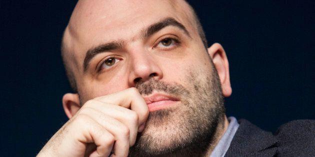 MILAN, ITALY - APRIL 19: Writer Roberto Saviano attends Tempo Di Libri Book Show on April 19, 2017 in...