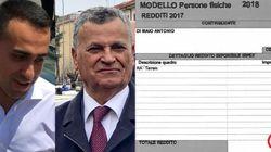 Nel 2017 il padre di Di Maio ha dichiarato al Fisco solo 88