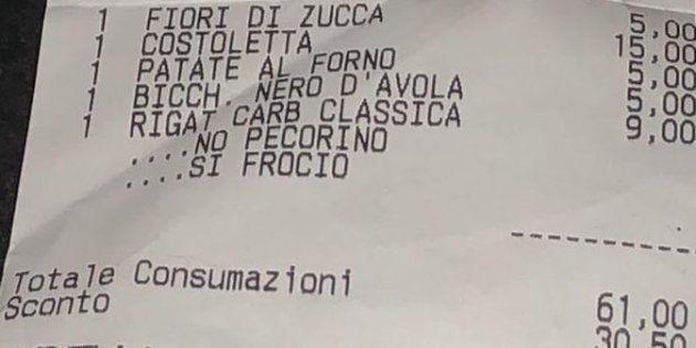 Scontrino omofobo a Roma: