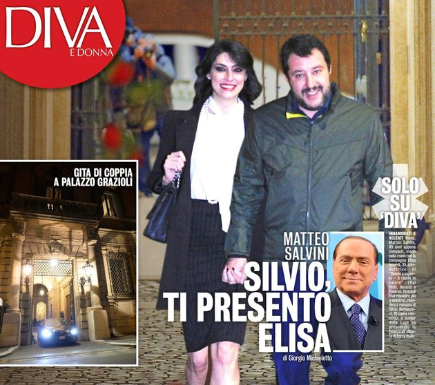 Matteo Salvini porta Elisa Isoardi da Silvio Berlusconi, a Palazzo