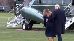 Melania inciampa ma questa volta Donald fa il