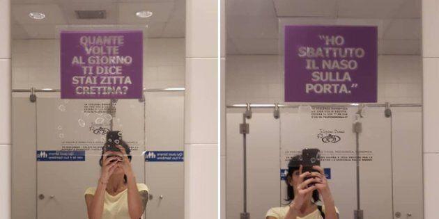 I cartelli comparsi nei bagni Ikea:
