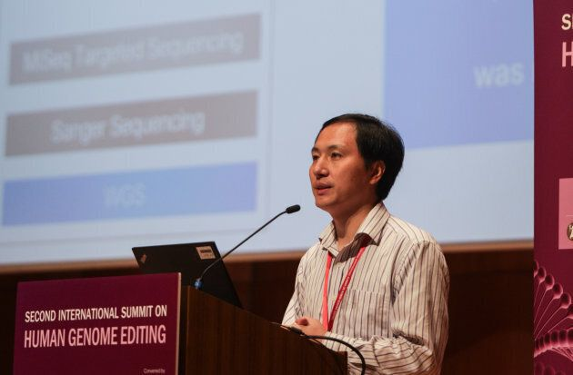HONG KONG - 2018/11/28: Chinese geneticist He Jiankui of the Southern University of Science and Technology...
