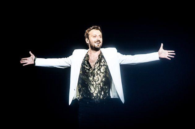 Italian singer Cesare Cremonini performing live at Stadio Giuseppe Meazza San Siro in Milan, Italy, on...