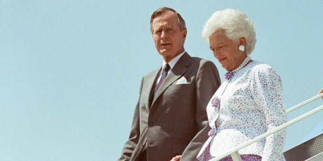ANKARA, TURKEY - (ARCHIVE) : A file photo dated July 20, 1991 shows Former US President George H.W. Bush...