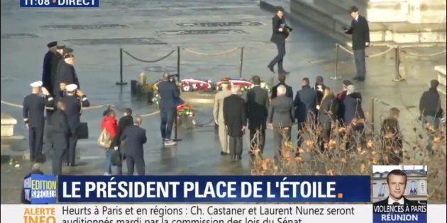 Au lendemain des violences en marge de la manifestation des gilets jaunes, Emmanuel Macron s'est rendu...