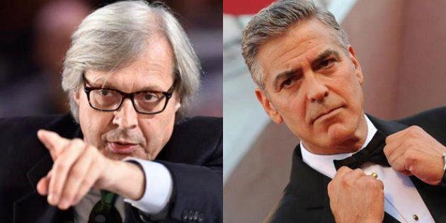 Vittorio Sgarbi contro George Clooney: