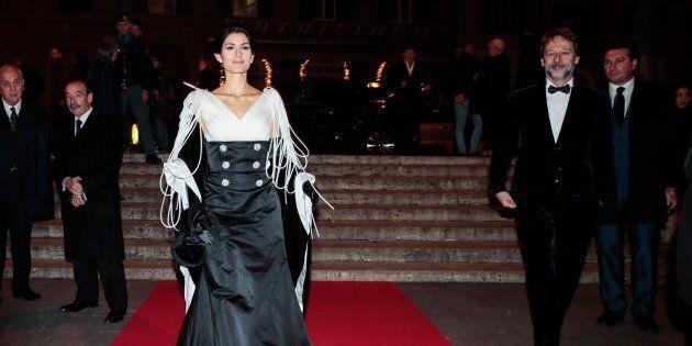 02/12/2018 Roma, teatro dell'Opera, nella foto il sindaco di Roma Virginia Raggi, vestito di Camillo...