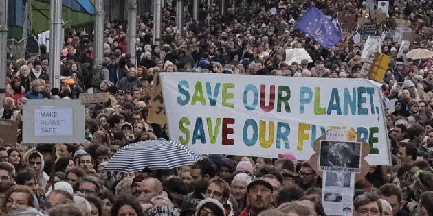 Manifestazione contro i cambiamenti climatici a