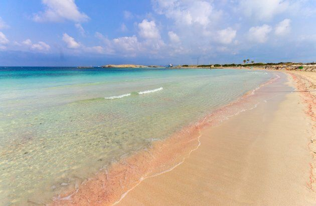 Spain. Balearic Island. Formentera. Playa de Ses Illetes. (Photo by: Valletta Vittorio/AGF/UIG via Getty