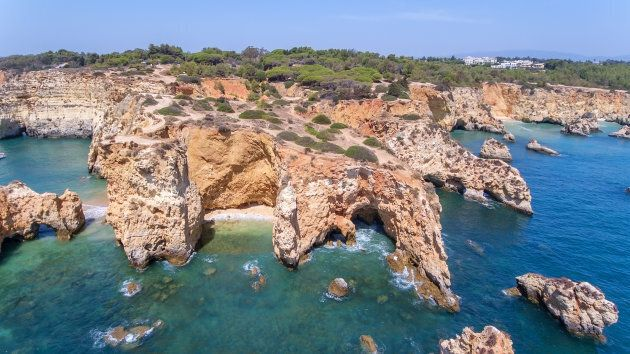 Aerial. Cape of the beach: Joao de Arens Portimao.