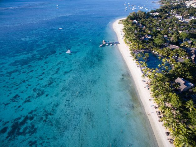Aerial View: Trou aux Biches Beach,