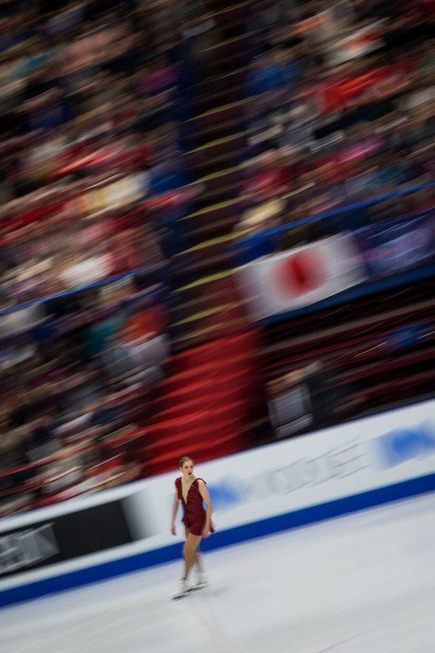 Carolina Kostner incanta il Forum di Assago: dopo il programma di corto nei Mondiali 2018 è al primo