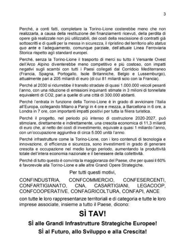 3000 Si e un manifesto, da Torino una sveglia al