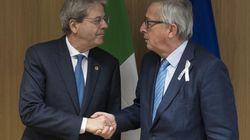 Juncker vede Gentiloni a Bruxelles: