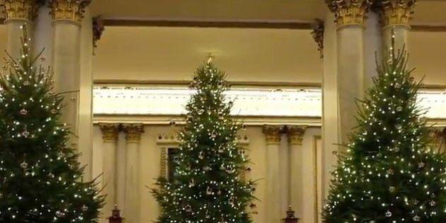 Decorazioni di Natale a Buckingham