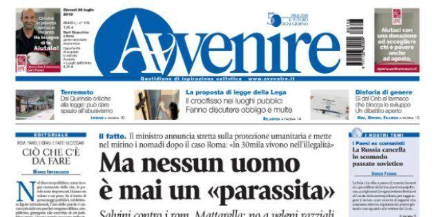 Dopo Famiglia Cristiana anche Avvenire contro Salvini: