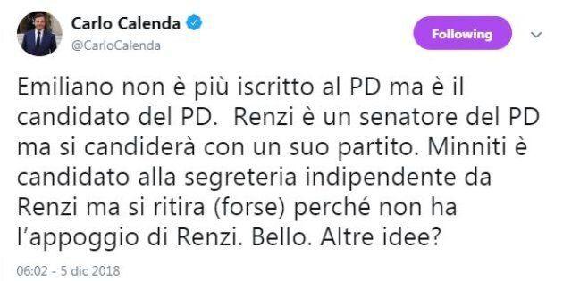 Calenda sbotta: