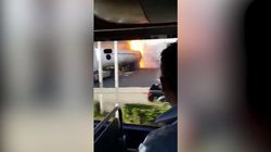 Il video dell'autocisterna in fiamme poco prima dell'esplosione del