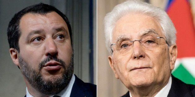 Salvini risponde a Mattarella: