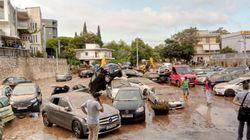 Dopo gli incendi, l'alluvione. Atene non conosce