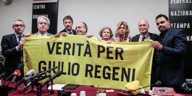Roma, conferenza stampa con i genitori di Giulio