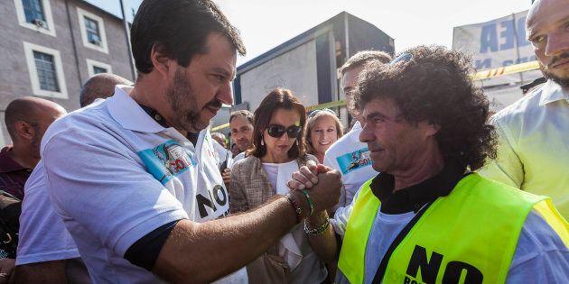 Matteo Salvini contrario all'ecotassa: