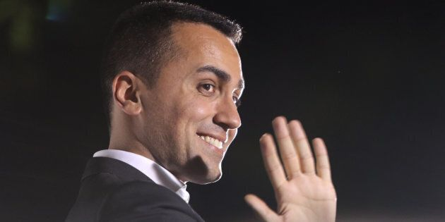 Luigi Di Maio, Deputy Prime Minister and Minister of Labor and Industry speaks during the national demonstration...