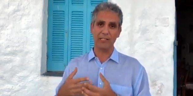 Un fermo immagine del video di Marcello Foa pubblicato sul suo profilo Facebook, 28 luglio