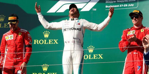 Formula One F1 - Hungarian Grand Prix - Hungaroring, Budapest, Hungary - July 29, 2018 Mercedes? Lewis...