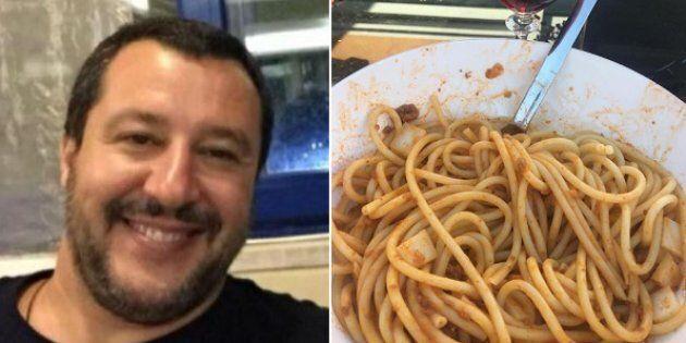Salvini e il cibo sui social: la pasta del
