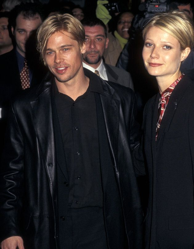 Actor Brad Pitt and actress Gwyneth Paltrow attend 'The Devil's Own' New York City Premiere on March...