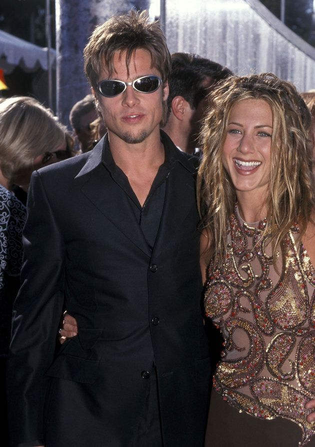 Actor Brad Pitt and actress Jennifer Aniston attend the 51st Annual Primetime Emmy Awards on September...