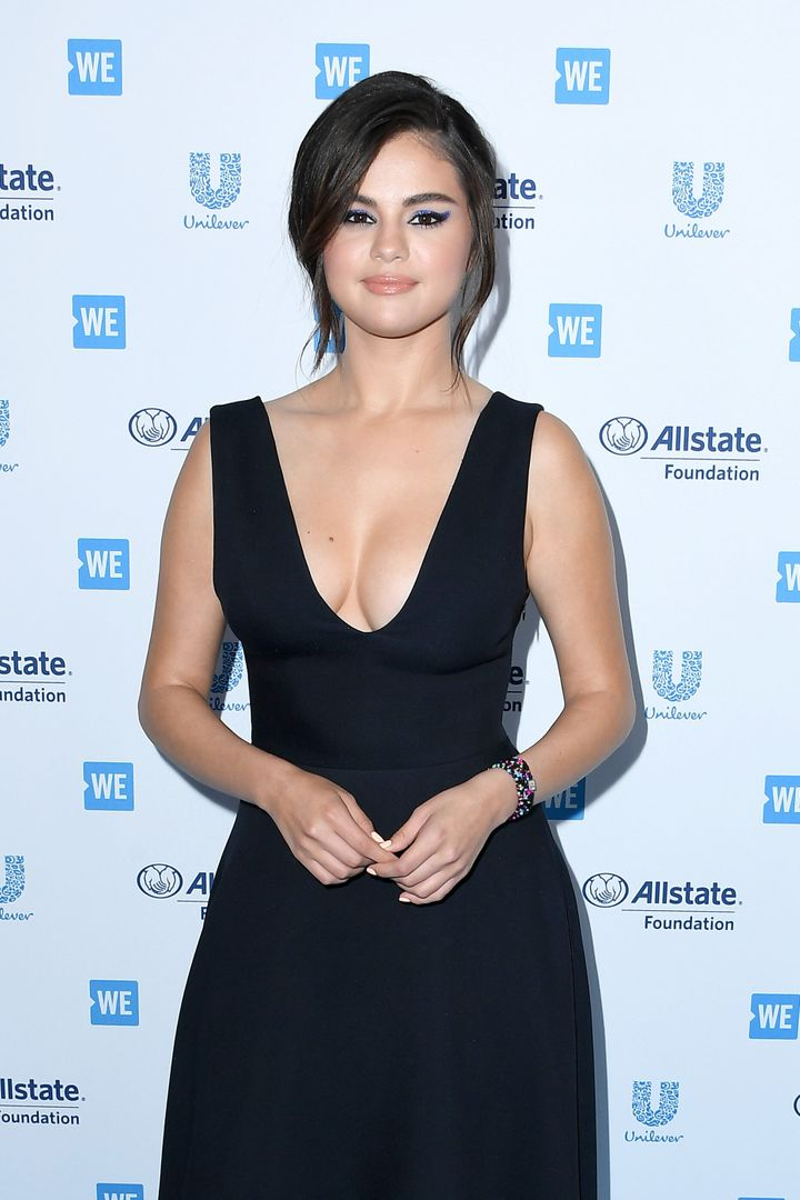 Gomez attends WE Day California on April 25 in Inglewood, California.