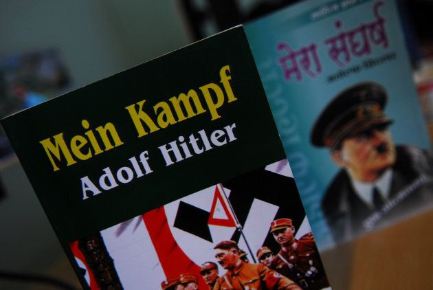 NEW DELHI, INDIA - JUNE 18, 2010: Picture of the book Mein Kampf. It is an autobiography on Adolf Hitler....