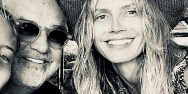 Flavio Briatore per la prima volta con la figlia Leni (mai riconosciuta) avuta da Heidi