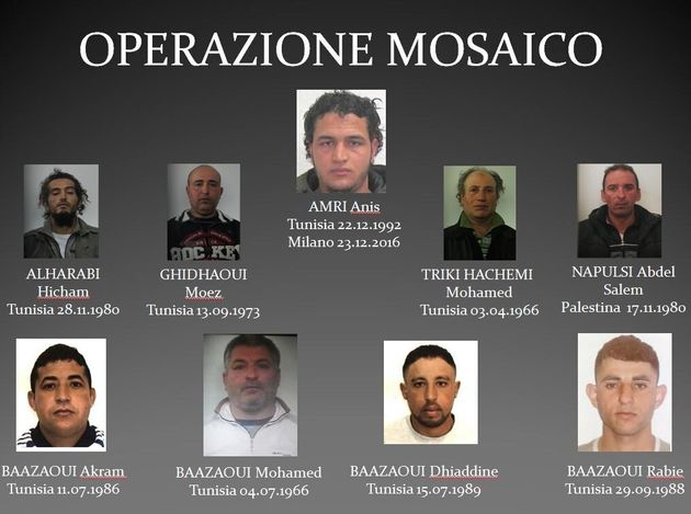 Smantellata in Italia la rete di Anis Amri, l'attentatore al mercatino di Natale di Berlino: 5 arresti...