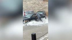 A Matera strade come fiumi: un uomo travolto dalla potenza