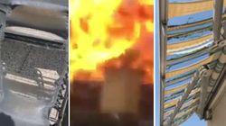 L'esplosione arriva fino al terrazzo e brucia un