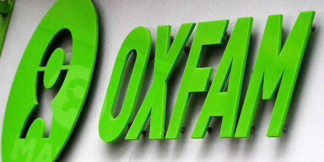 ARA7. LONDRES (REINO UNIDO), 14/02/2018.- Logotipo de la ong brit�nica Oxfam en una tienda de Londres,...