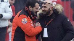 Alla festa del Milan Salvini stringe la mano all'ultras condannato per spaccio di