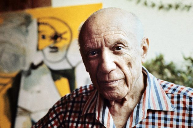 This file pictured dated 13 October 1971 shows Spanish painter Pablo Picasso in Mougins, France. The...