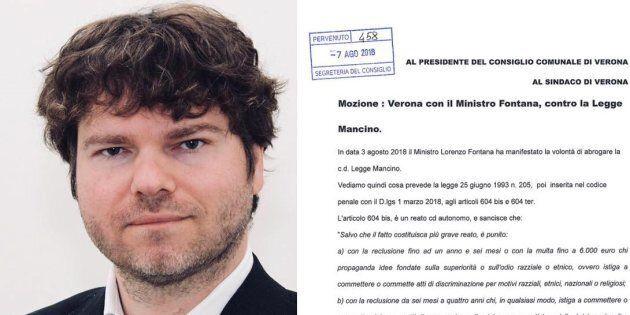 Il consigliere di Verona (e amico di Fontana) che fece il saluto romano contro le femministe: